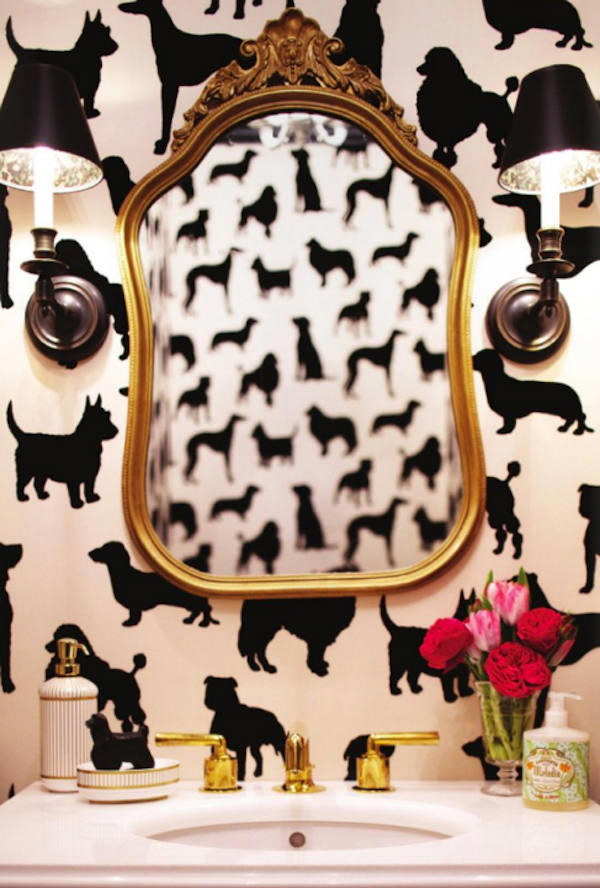 Papel pintado de osborne and little con siluetas de perros - Papel pintado animales ...