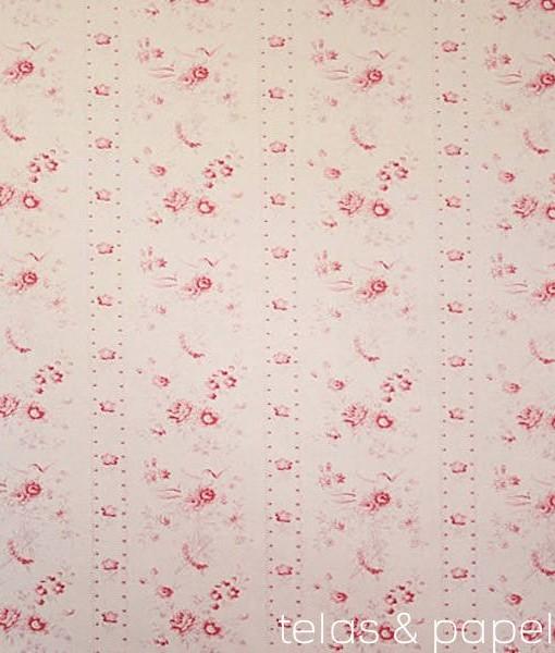 Tela de flores inglesas amy telas papel - Telas inglesas para tapizar ...