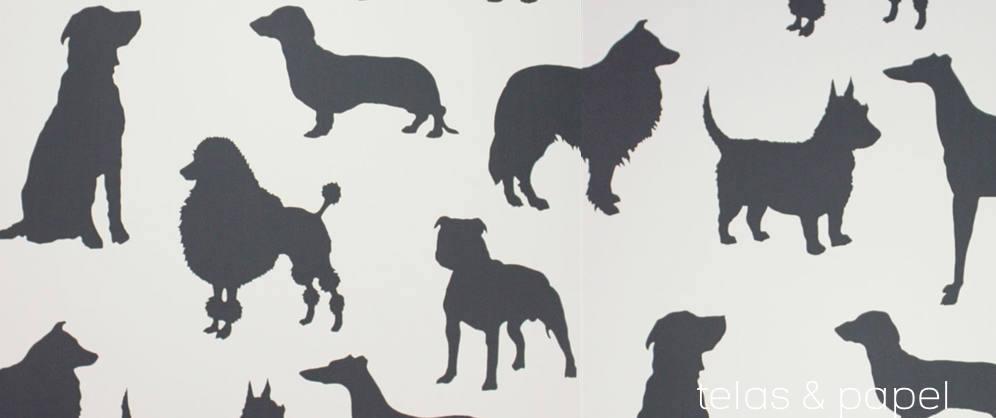 Tienda online telas papel papel pintado best in show carbon Papel pintado animales