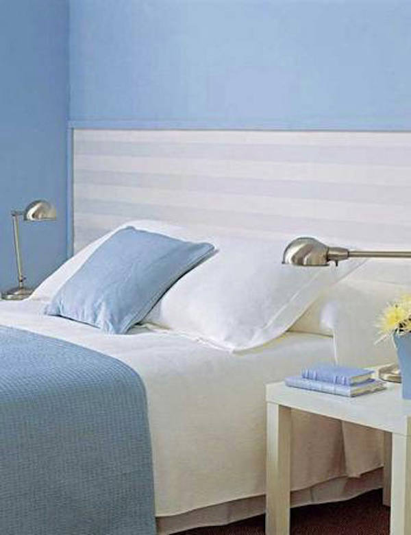 Tienda online telas papel papel pintado rayas william en nuestra tienda online - Cabecero cama pintado ...