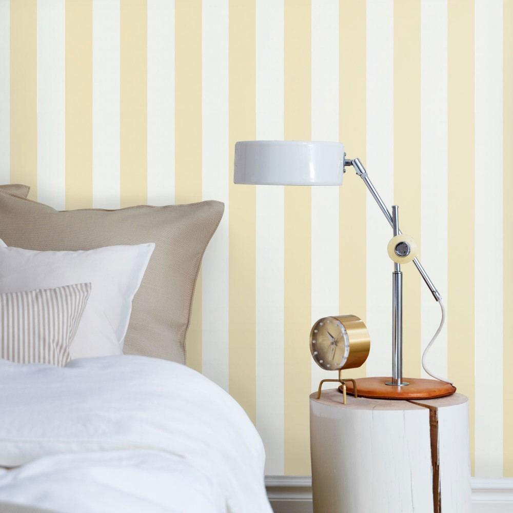 Papel pintado cambia el look de tu dormitorio ideas - Dormitorios pintados a rayas ...