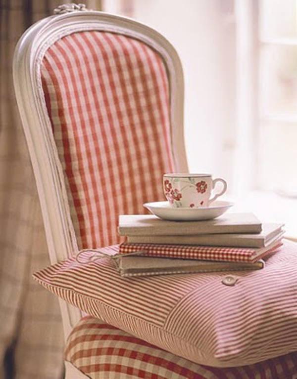 telas para tapizar cuadritos rojos