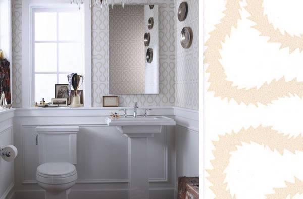 Tienda online telas papel papel pintado vivienne - Papel pintado para banos sobre azulejos ...