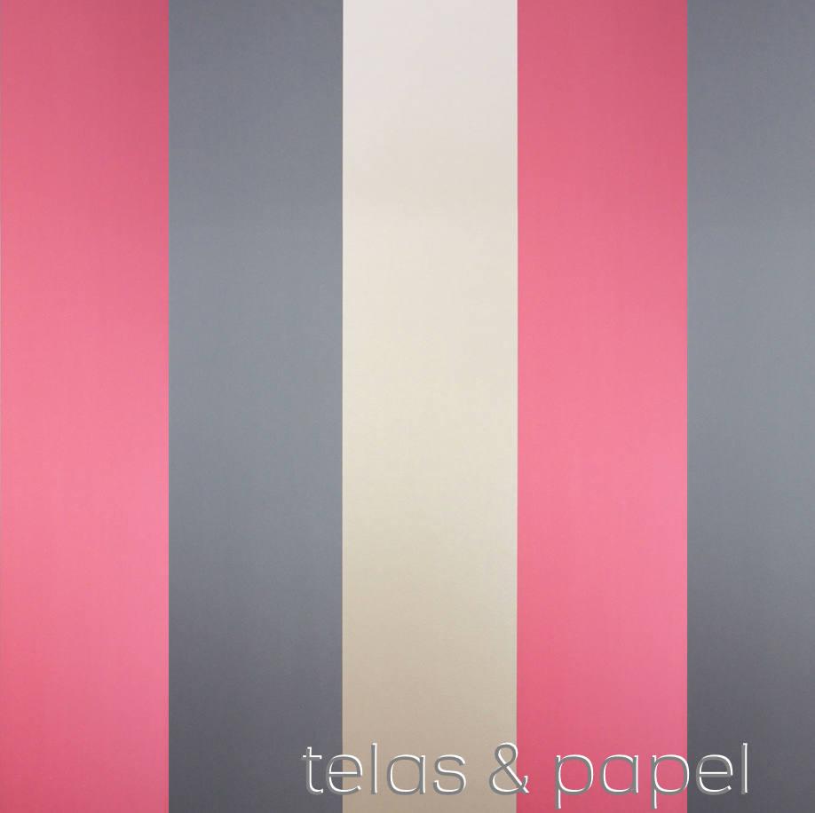 Tienda online telas papel papel pintado rayas carnaby dorado - Papel pintado rayas ...