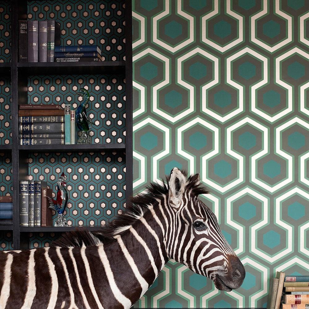 Tienda online telas papel papel pintado hex gonos - Papel pintado online ...