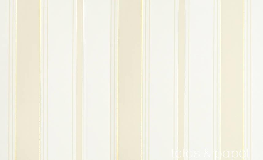 Papel pintado rayas cambridge beige telas papel for Papel pintado rayas beige