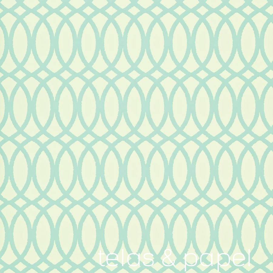 Tienda online telas papel papel pintado erin turquesa - Papel pintado online ...