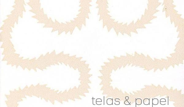 Tienda online telas papel papel pintado vivienne for Papel pintado beige y blanco