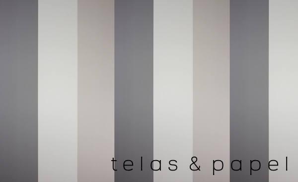 Tienda online telas papel papel pintado rayas una for Papel pintado salon marron
