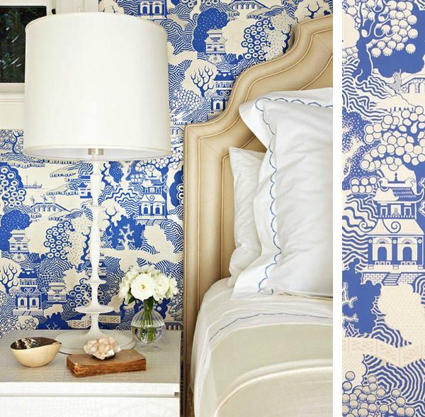 Papel pintado summer palace telas papel - Cabecero papel pintado ...