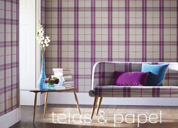Tienda online telas papel papel pintado con cuadros - Papel pared salon ...