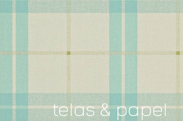 Tienda online telas papel papel pintado con cuadros - Papel pintado turquesa ...
