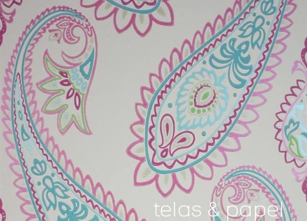 Tienda online telas papel papel pintado con estampado for Papel pintado estampado