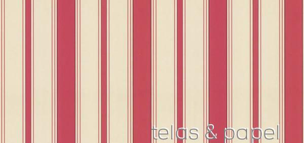 Tienda online telas papel papel pintado a rayas for Papel pintado rojo