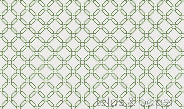 papel pintado trellis banbury stone en color verde manzana