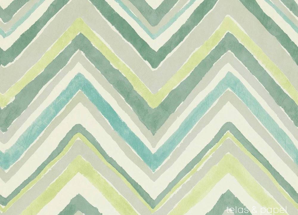Tienda online telas papel papel pintado zigzag verde lima - Papel pintado online ...
