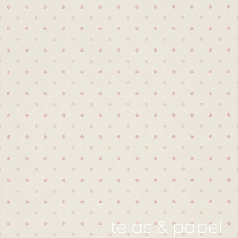 Tienda online telas papel papel pintado lunares dot dorado for Papel pintado lunares