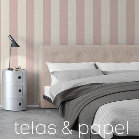 tienda online telas & papel | papel pintado rayas nordic rosa