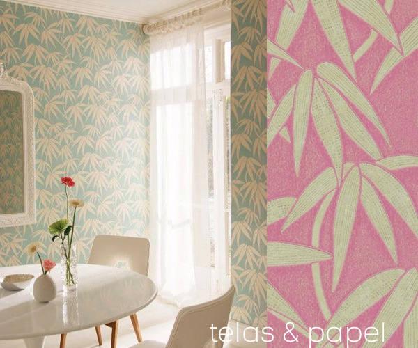 Papel pintado japon en las paredes telas papel - Papel pintado decorativo para paredes ...