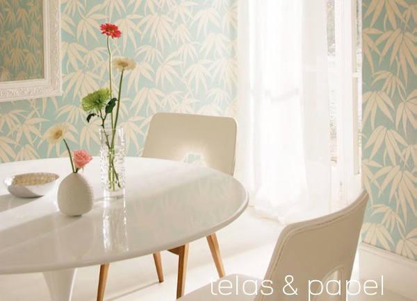 Tienda online telas papel papel pintado japon en las - Papel pintado adhesivo pared ...