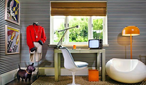 Tienda online telas papel papel pintado rayas blancas - Dormitorios pintados a rayas ...