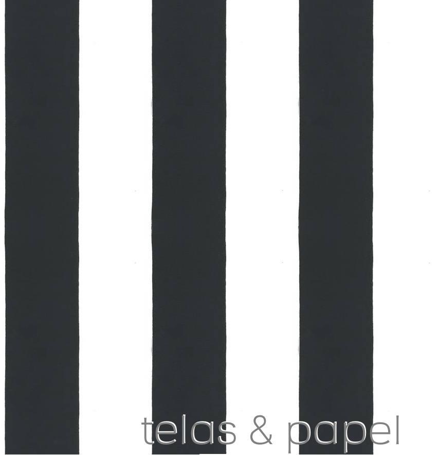 papel pintado rayas negras y blancas