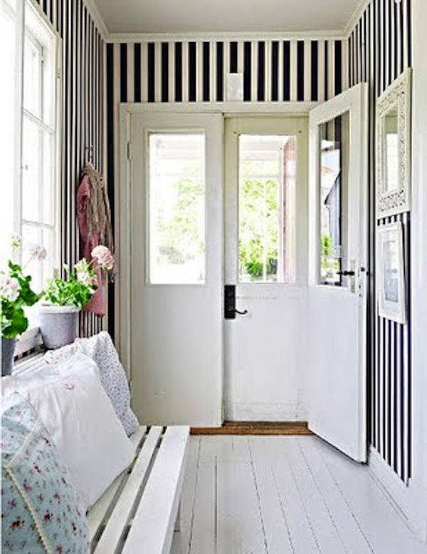 Tienda online telas papel recibidores con papel pintado rayas negras - Papel pintado para recibidores ...