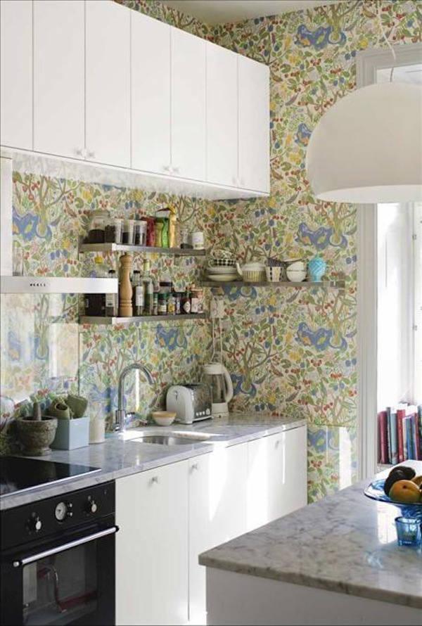 Tienda online telas papel papel pintado en la cocina - Papel pintado en cocina ...