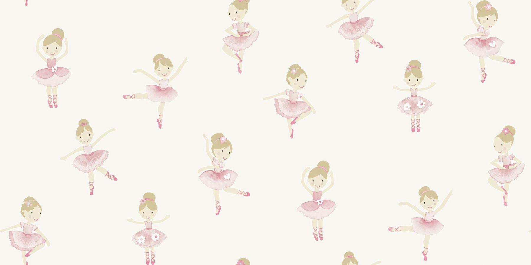 Tienda online telas papel papel pintado bailarinas blanco for De papel pintado
