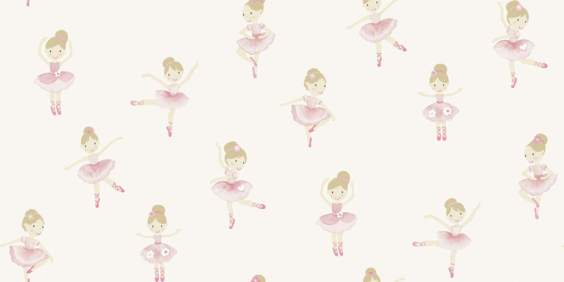 Tienda online telas papel papel pintado bailarinas blanco for Papel decomural infantil
