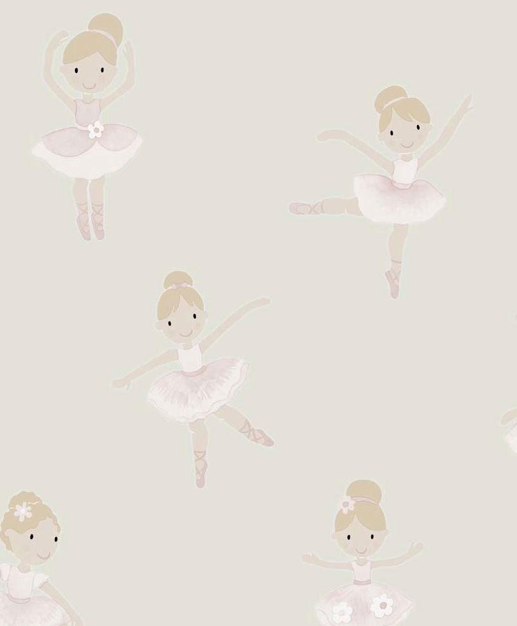 Tienda online telas papel papel pintado bailarinas for Papel pintado infantil