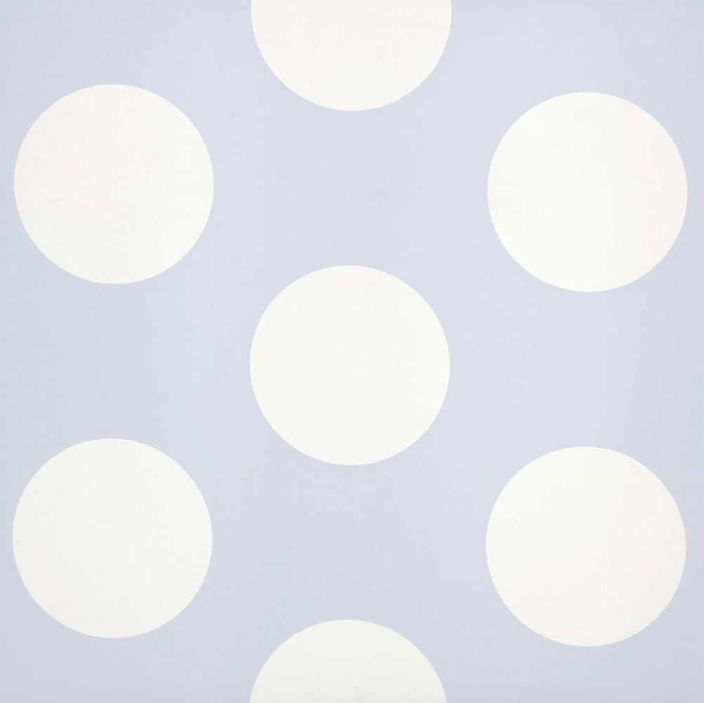 tienda online telas papel papel pintado lunares grandes azul tiza