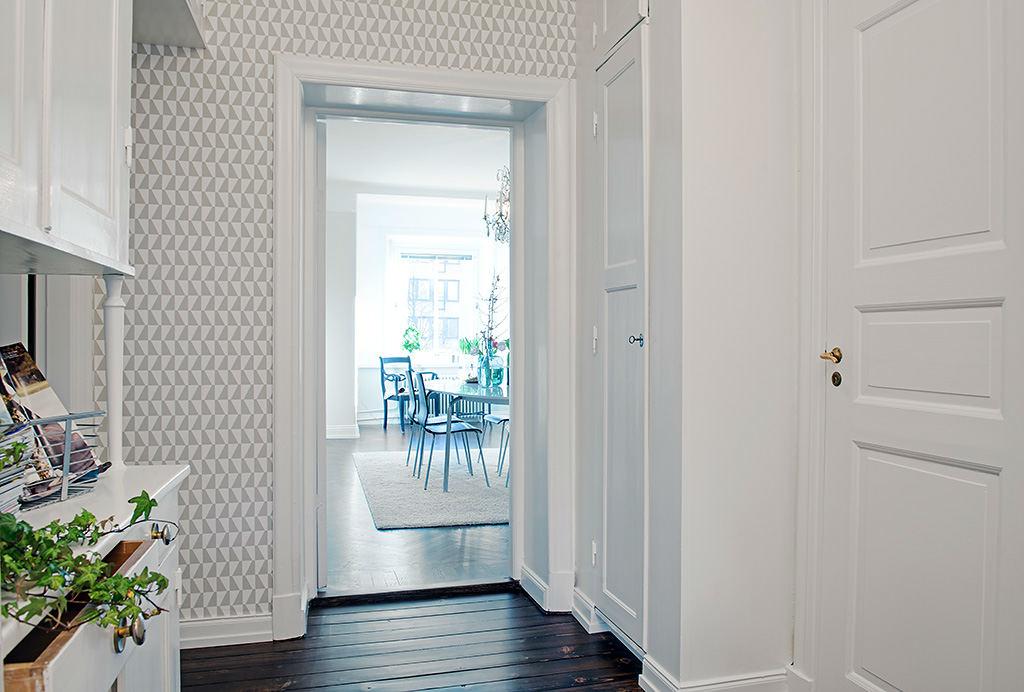 Tienda online telas papel papel pintado geom trico for Papel pintado recibidor