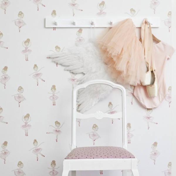 Tienda online telas papel papel pintado infantil con - Papel pintado para habitacion nina ...