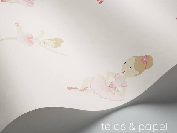 papel bailarinas con fondo blanco