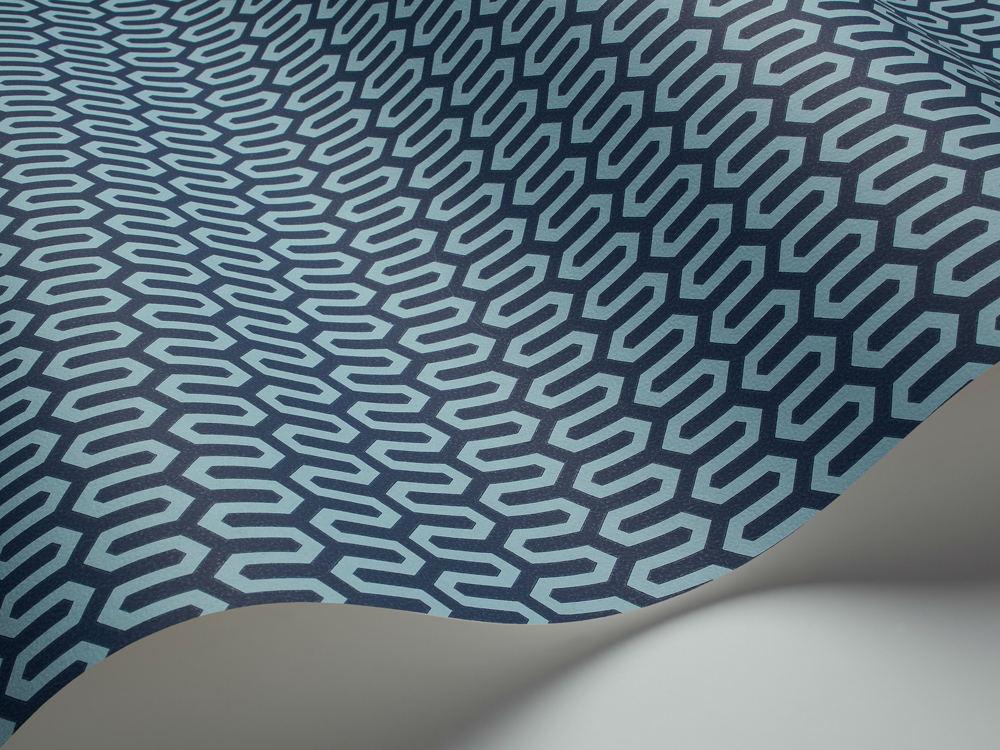 Tienda online telas papel papel pintado jacobsen azul for Papel pintado azul
