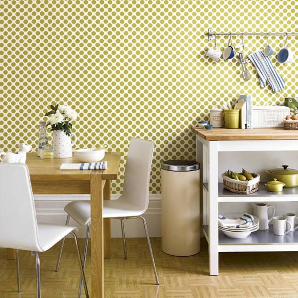 Tienda online telas papel papel pintado en la cocina - Cocinas con papel pintado ...