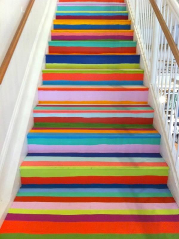 Tienda online telas papel decorar la escalera - Escaleras para pintar ...