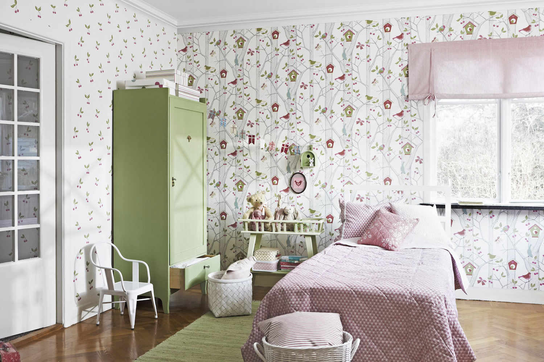 Tienda online telas papel papel pintado infantil for Dormitorio infantil bosque