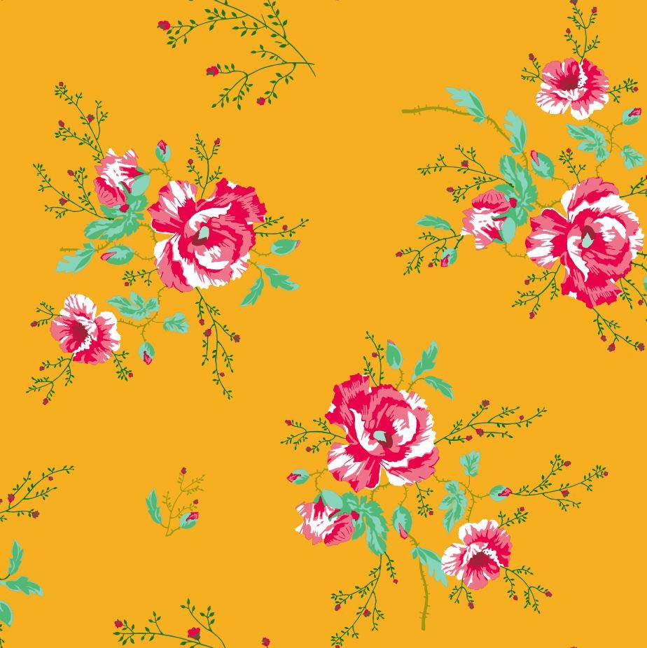 Tienda online telas papel papel pintado rosas de for Papel pintado colores