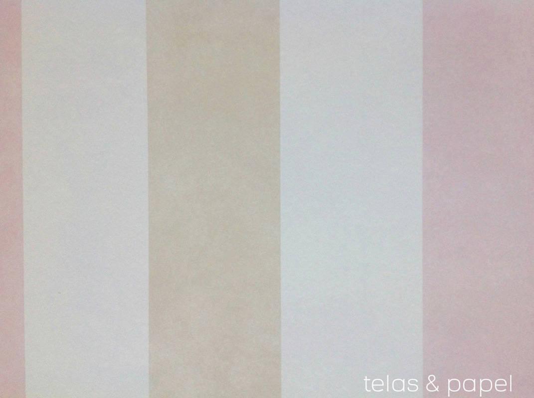 Papel pintado rayas cosas m nimas rosa telas papel - Papel pintado rosa ...