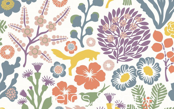 Papel pintado de josef frank telas papel page 4761 for Papel pintado estampado