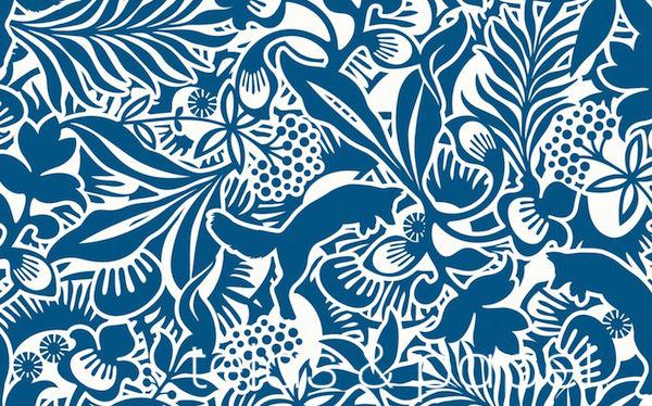 Tienda online telas papel papel pintado de josef frank for Papel pintado estampado