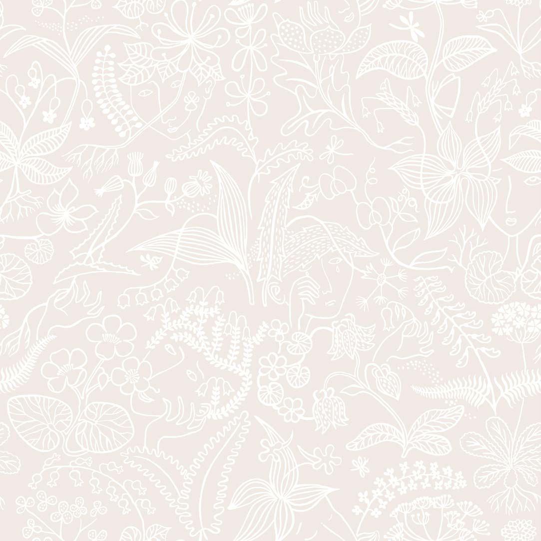 Tienda online telas papel papel pintado stig lindberg rosa - Papel pintado rosa ...
