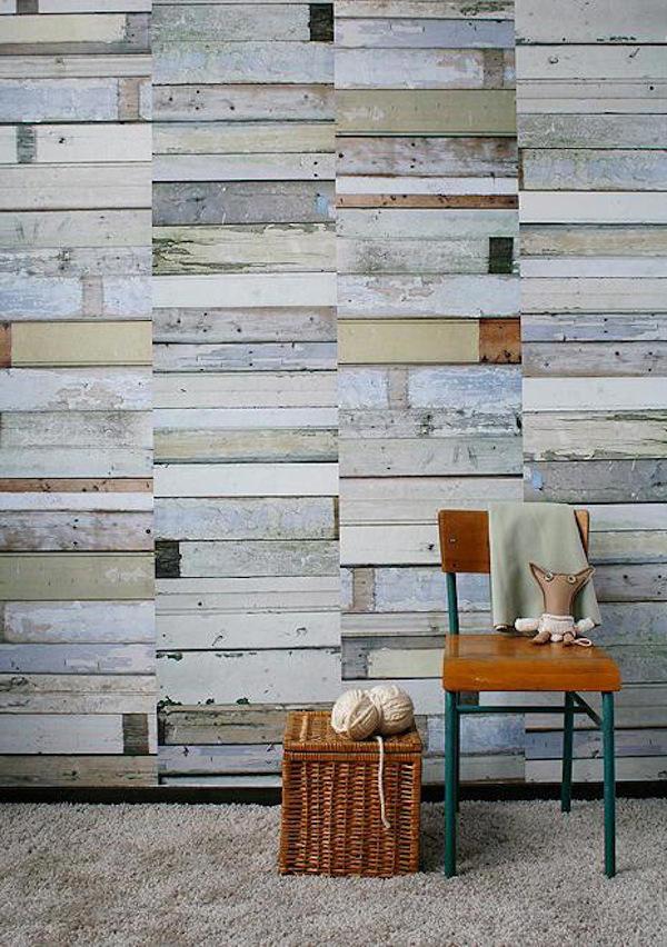 Tienda online telas papel papel pintado con tablones for Tablones de madera precios