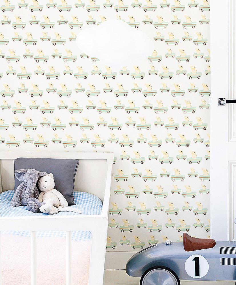 Tienda online telas papel papel pintado infantil for Papel pintado blanco