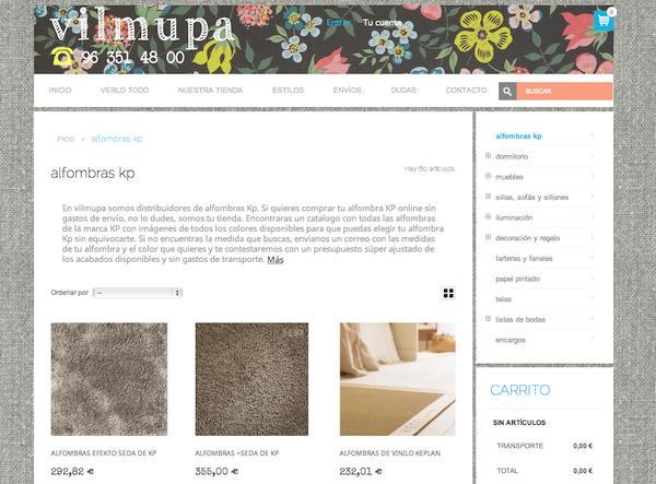 Tienda online telas papel muebles y decoraci n online - Alfombras kp online ...