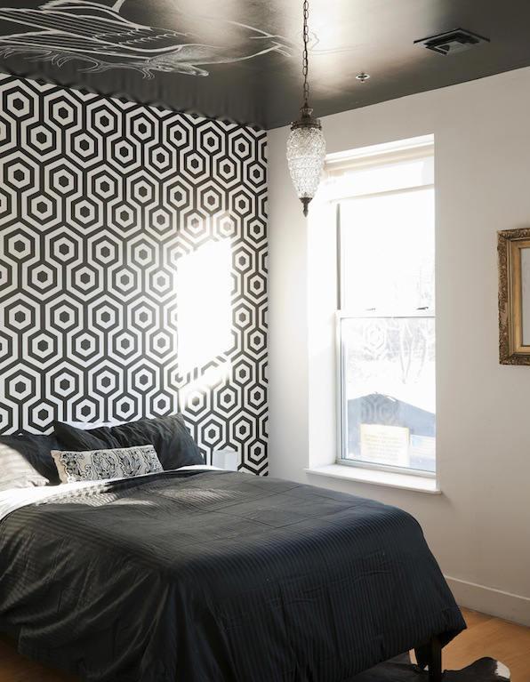 Papel pintado para el cabecero de cama telas papel for Cabeceros de cama con papel pintado