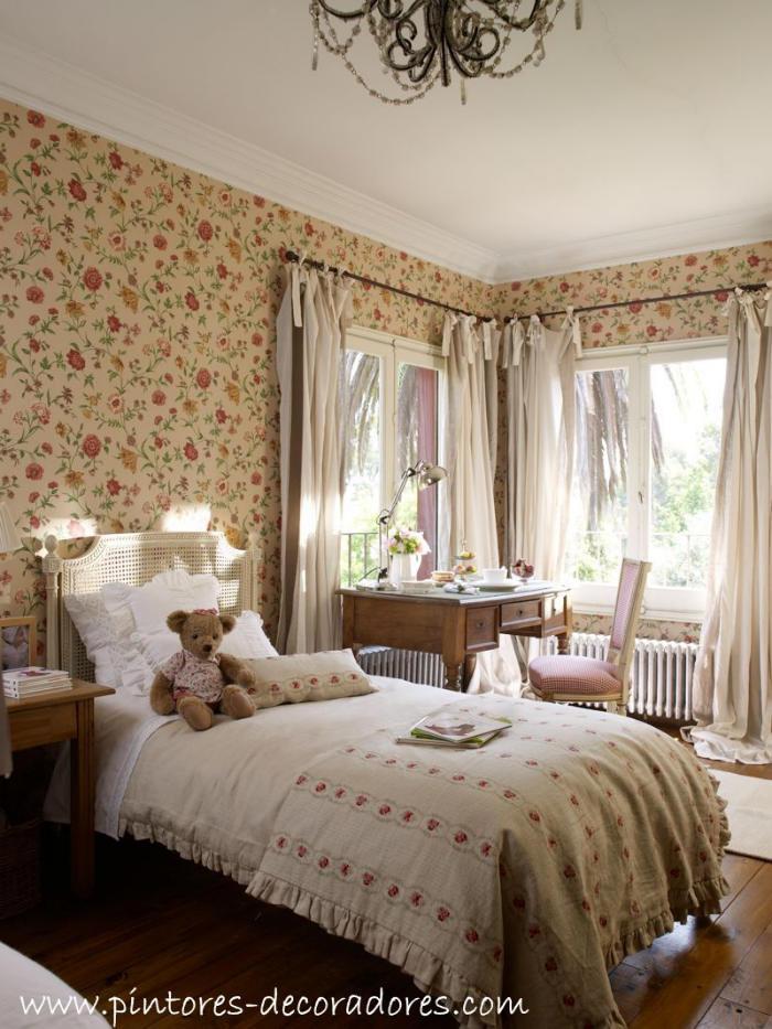 Tienda online telas papel flores para tus paredes part 5272 - Cabeceros papel pintado ...