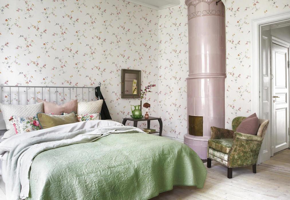 Tienda online telas papel papel pintado naturaleza con - Dormitorios con papel pintado ...